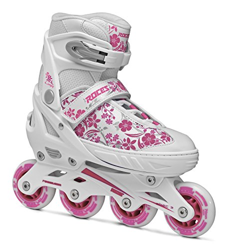 Roces Girls Model Compy 8.0 Verstellbarer Inlineskate, US 13jr-2, weiß/violett