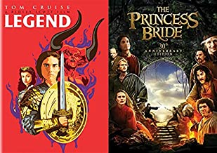Rob Reiner's & Ridley Scott's Children's Fantasy Films: Legend (Alternate Limited Edition Pop Art Cover) + The Princess Bride (30th Anniversary Edition) DVD Imagination Movie Bundle