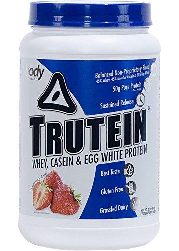 Body Nutrition Trutein Strawberries and Cream Protein Powder, 2 lb