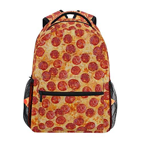 Linomo Jahrgang Wurst Pizza Rucksack Daypacks Schultertasche Büchertasche Laptop Reisen Schulrucksack für Damen Herren Kinder Mädchen Jungen Teenager
