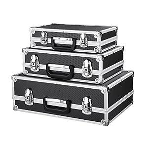 IKAYAA - Juego de 3Maletas de almacenaje de Herramientas con Marco de Aluminio y plástico ABS