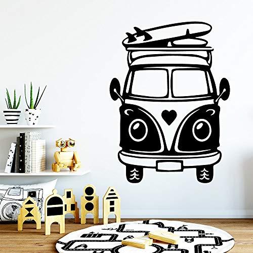 wZUN Romance Bus Pegatinas de Pared de Vinilo extraíbles decoración del hogar Sala de Estar Dormitorio calcomanías de Vinilo 42X55cm