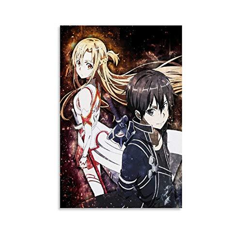 YEROU Sword Art Online Posters estético 60x90cm