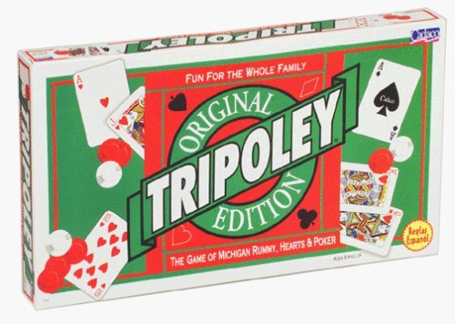 Tripoley Deluxe Edition; the Original Game of Michigan Rummy, Hearts, Poker by Cadaco