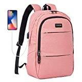 Laptop Backpack Slim Water Resistant College School Computer Backpack with USB Charging Port, Business Travel Backpack for Men Women Fits 15.6 Inch Laptop Notebook