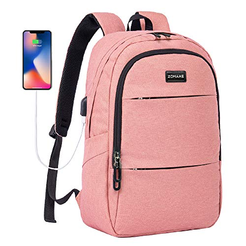 Laptop Backpack Slim Water Resistant College Travel Backpack for 15.6 Inch Laptop