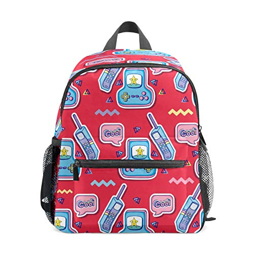 Preshool - Mochilas divertidas con dibujos animados para teléfono o videojuegos, mini mochila escolar para niños y niñas