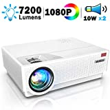 WiMiUS New P28 Native 1080P Movie Projector 7200Lux 4K Support 4D±50°Keystone Correction