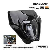 Faro delantero de moto con carenado, luz diurna para modelos KTM de 2018 EXC250, SX250, SXF250, EXC450, SX350, SXF450, EXC525 y 640LC4. Para motos de motocross, enduro y supermotard, color negro