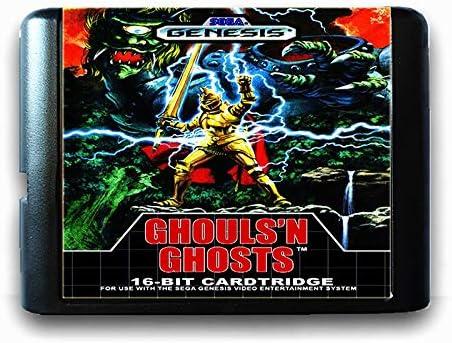 Jhana Ghouls n Ghosts 16 Bit Sega Game Card MD for Mega Drive for Genesis PAL USA JAP Video product image