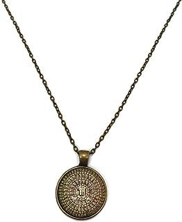 Islam Pendant Necklace with Link Chain AMN-205 Allah Arabic 99 Names Asma-ul Husna Muslim Fashion Jewelry