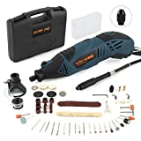 DETLEV PRO Rotary Tool Kit 153 Accessories 170W Variable Speed with Flex Shaft for Cutting...