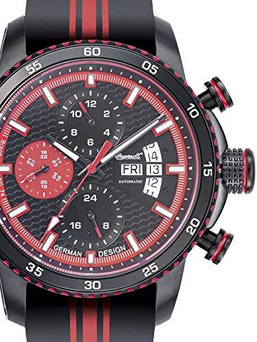 Ingersoll Herren Analog Automatik Uhr mit Leder Armband IN1717RD