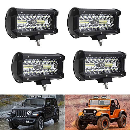 oEdRo LED Light Bar 2pcs 6 Inch 18W Flood LED Work Light Off Road Lights Car Boat Lights Fog Driving Light Lamp Compatible for UTE SUV 4X4 4WD ATV Jeep 3 Years Warranty 4333221466