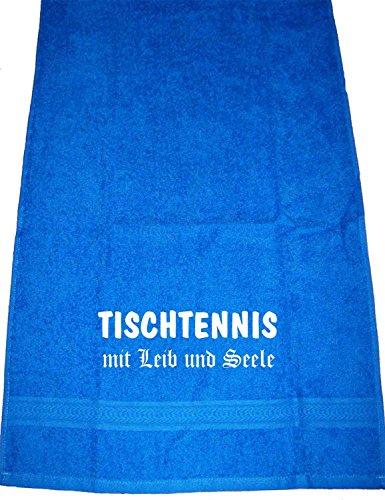 ShirtShop-Saar Tischtennis mit Leib und Seele; Handtuch Royalblau