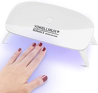ジェルネイルライト UVライト LEDネイルドライヤー YOKELLMUX LED 硬化用ライト ハイパワーチップ式 usbライト レジン道具 タイマー設定可能 60s/180s 折りたたみ式手足とも使える 6W ケーブル付き (ホワイト)