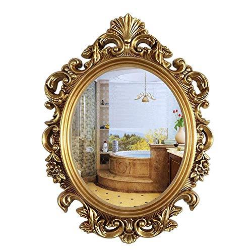 Specchio da Bagno Ovale Americano Europeo Specchio da Bagno Impermeabile Specchio da Toilette con Specchio
