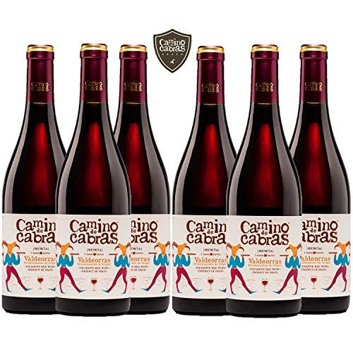 CAMINO DE CABRAS Mencía vino tinto Crianza – Valdeorras – caja de vino - Producto Gourmet - Vino bueno para regalar - 6 botellas x 75cl