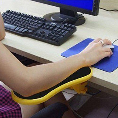 Yanghx, estensore per scrivania per computer, ergonomico, regolabile Giallo.