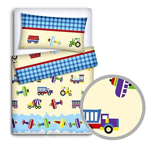 Baby Bettwäsche Set Kissenbezug+Bettbezug 2PC Passend Für Baby Kinderbett - Lkw