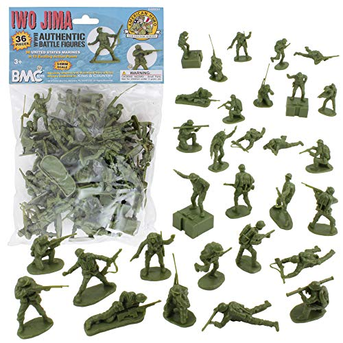 German Soldier Figures BMC WW2 D-Day Plastic Army Men 34 American British