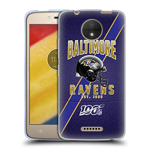 Head Case Designs Offizielle NFL Football Streifen 100ste 2019/20 Baltimore Ravens Soft Gel Huelle kompatibel mit Motorola Moto C
