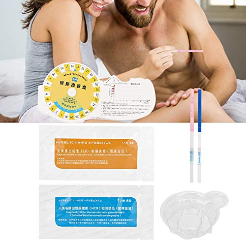 30pcs Ovulation Test Strip Fast Pregnancy Test + 40pcs Urine Cup Rapid Test Tool + 10pcs Early Pregnancy Testing Strip for Household Women Unmistakably Clear Results