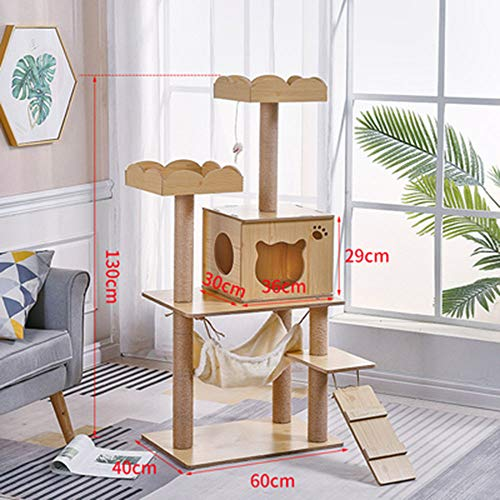 HDGZ Tiragraffi per Gatti Grandi XXL Maine Coon Tower Grigio Chiaro dal Pavimento al soffitto aggiustabile da Adulti Grande Gatto Albero enormi giganti(D)