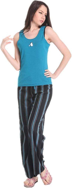 DMMSS Ladies Vest + Trousers Home Service 2  Piece Sets Of Summer Cotton Leisure Pajamas Suit