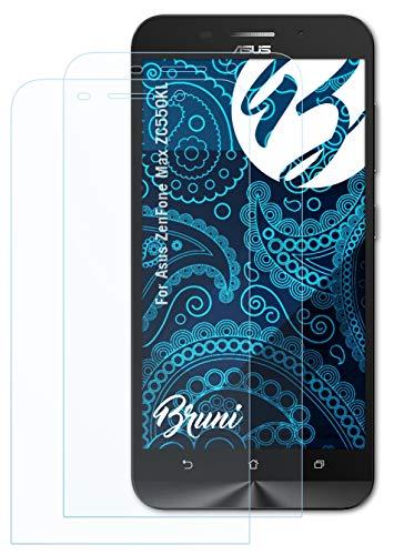 Bruni Schutzfolie kompatibel mit Asus ZenFone Max ZC550KL Folie, glasklare Bildschirmschutzfolie (2X)