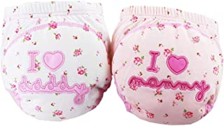 Toddler Baby 2 Pack Pee Potty Toilet Training Pants Cartoon Nappy Underwear