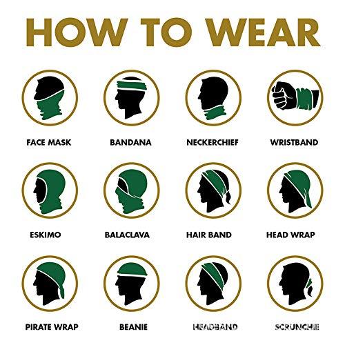 AGOLOD 4PCS Face Bandana Headband Scarf for Motorbike Fish Shopping Raves Outdoors Men Women