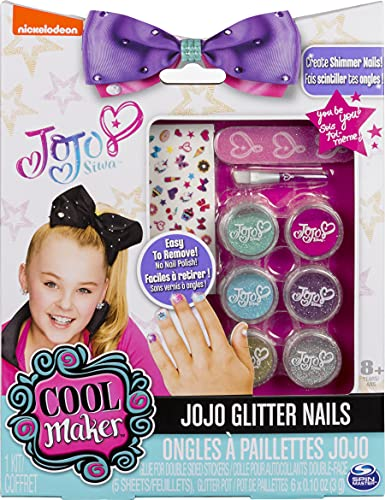 JoJo Siwa Glitter Nails - Glitter Manicure Kit with Custom Decals