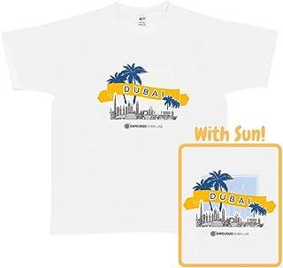 Expo 2020 Dubai Unisex Adults Color Changing In The Sun Dubai Skyline Word T-shirt, Multicoloured