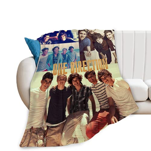One Direction La Manta Combinada se Utiliza para el Sofá Cama y el Sofá del Hogar. Es Cómoda, Cálida y Ligera.Adecuada para Niños y Adultos 130x150cm