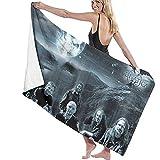Moon Elements Soft Absorbente Ligero para Piscina Yoga Pilates Picnic Manta Toallas 80x130cm
