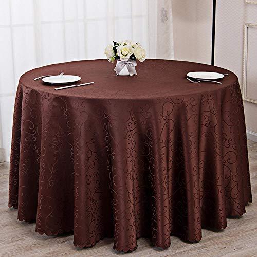 Ahuike Mantel de Mesa Rectangular para Cocina Simple Doméstico Reutilizable Simple Uso Interior y Al Aire para Jardín Habitaciones Café Profundo Círculo Diámetro 200cm