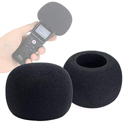 YOUSHARES Zoom H1n & H1 Recorder Foam Windscreen, Wind Cover Pop Filter Fits Zoom H1n Handy Portable Recorder (2 PCS)