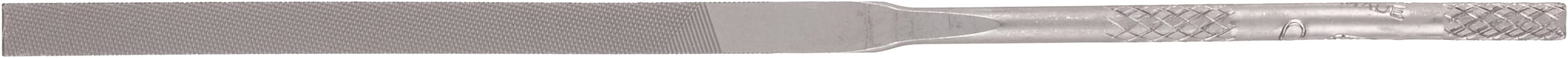 "Nicholson Needle File with Handle, Swiss Pattern, Double Cut, Rectangular, #2 Coarseness, 6-1/4"" Length"