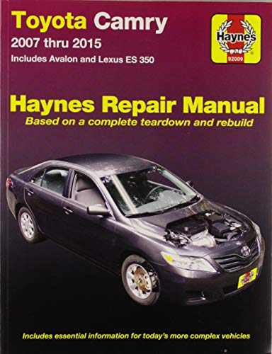 Haynes Toyota Camry and Lexus ES 350 Automotive Repair Manual: Models Covered: Toyota Camry and Avalon,…