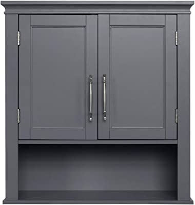 Double Door Wall Cabinet Grey