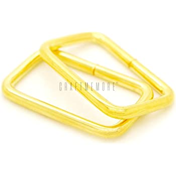 20mm Rectangle Rings Webbing Belts Buckle,Q2308 50 Pcs 3//4 inch Metal Rectangle Buckle Ring Metal Bag Purse Snap Hook