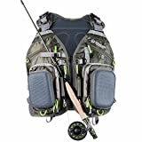 Elkton Outdoors Universal Fit Fly Fishing Vest Backpack with Hard...