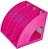 Aktenschränke für Zeitschriften und Schreibtisch-Ordner aus Kunststoff, Trennwand für Schreibtischutensilien, Blau/Rot/Grün (Farbe: C), C