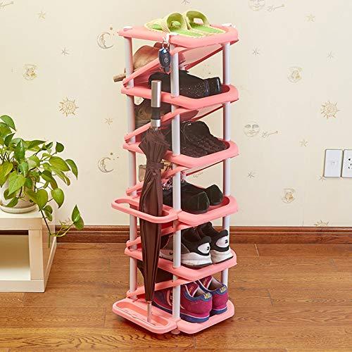 XQYPYL Zapatero el Plastico con 6 Niveles, Organizador de Zapatos, Torre Vertical para el Hogar, Estantes para el Salón, Vestidor y Pasillo,04,32cm*28cm*101cm