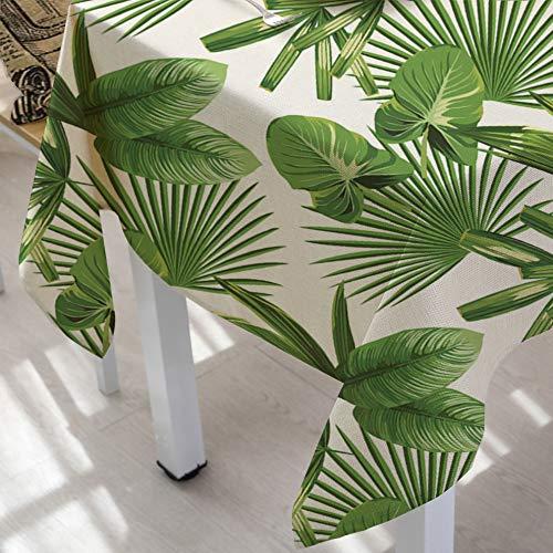 DJUX Home Grüne Pflanze, Polyester, 90 x 90 cm, 140 x 240 cm, frische Blätter