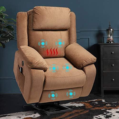 Top 10 Best microfiber recliner heated massage Reviews