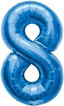 """NorthStar Foil Balloon 000132 Number 8 - Blue 34"""","""