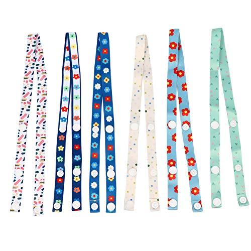 Artibetter 6 Stück verstellbares Umhängeband für den Hals, Tragbare Schnallen zur Entlastung der Ohren, Clips für Lätzchen, biegsamer Hut