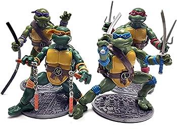 4 Turtles Official Figuarts Teenage Mutant Ninja Turtles Action Figures - TMNT Action Figures 1988 Nostalgic Classic Model – Set of 4 Ninja Turtles Retro Action Figures  6.5 Inches